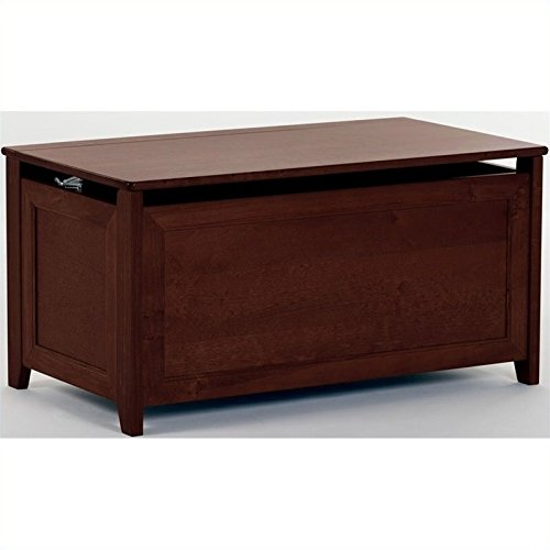 37.75 in. Toy Box in Cherry Finish