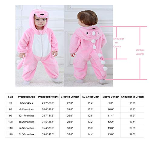 Uncle Lee Unisex-Baby Animal Flannel Crawling Clothes Cosplay Pajamas Onesie Cartoon Infant//Toddler Costume