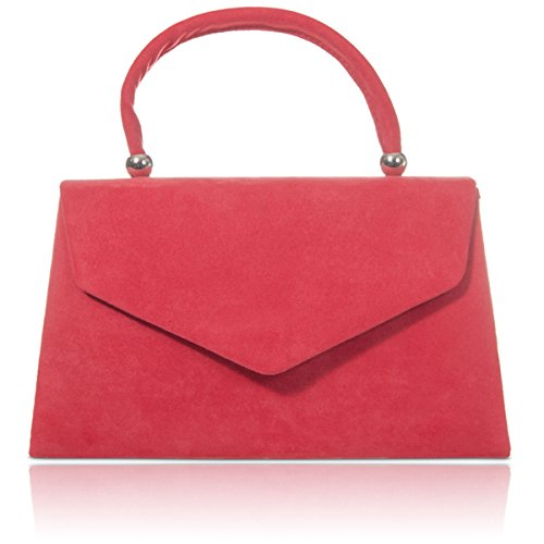 Bags Coral Girls Xardi Evening Leather New Women Faux Clutch Ladies London Suede Handbags Handheld pwgpH7qC