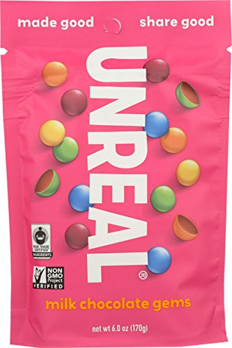 UNREAL Milk Chocolate Gems, 6 Ounce (Pack of 6)