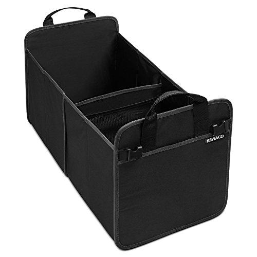 Kofferraum Organizer aus Oxford Gewebe von Kewago. Große Kofferraumtasche und Auto Faltbox mit stabilem Boden