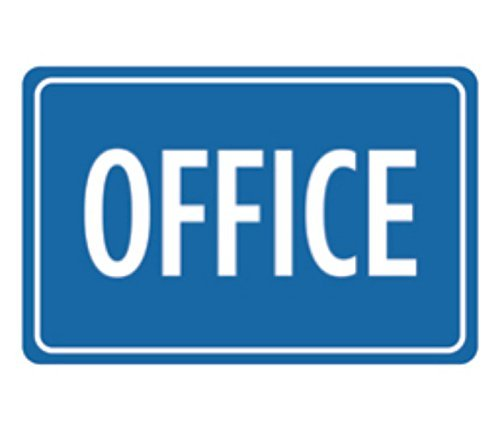 Flyss Aluminum Metal Office Print Blue Notice Business Sign