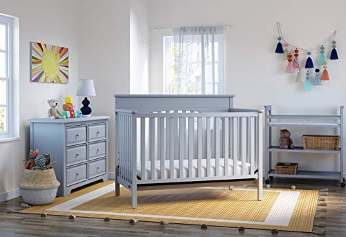 Graco Lauren 4-in-1 Convertible Crib Pebble Gray Easily Converts to Toddler Bed