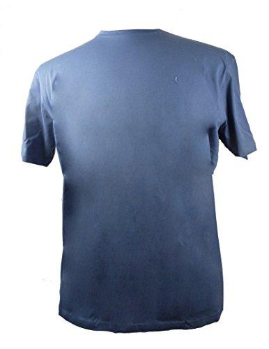 Basic Rundhals Shirt von Kitaro bis 10XL ,blau