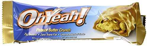 Oh Yeah Peanut Butter - ISS Research Ohyeah! Bars, Peanut Butter Crunch, 3 Ounce, 12 Count