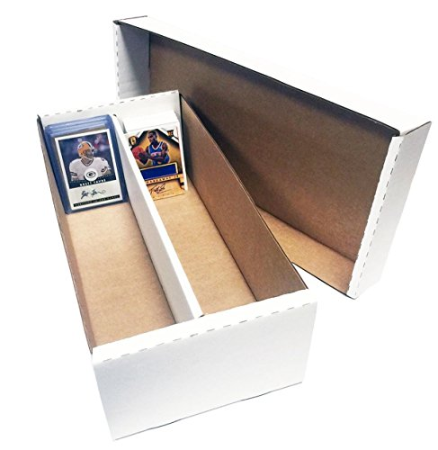 (3) Shoe 2 Row Storage Boxes (1600 Ct.) - Cardboard Storage Box - Baseball, Football, Basketball, Hockey, Nascar, Sportscards, Gaming & Trading Cards Collecting Supplies by MAX PRO