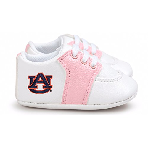 Future Tailgater Auburn Tigers Pre-Walker Baby Shoes - Pink Trim