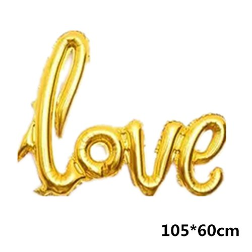 Michael Palmer Ligatures Love Letter Foil Balloon Anniversary Wedding Valentines Birthday Party Decoration Champagne Cup Photo Booth Props Big Gold Love