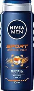 NIVEA MEN Sport 24 Hour Fresh Effect Shower Gel, 500ml