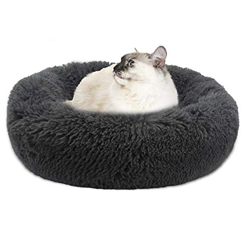 BELPRO Dog Bed Cat Beds Donut, Dog Sofa with Soft Plush Surface, Joint-Relief and Improved Sleep, Removable Inner Cushion, Self Warming Winter Indoor