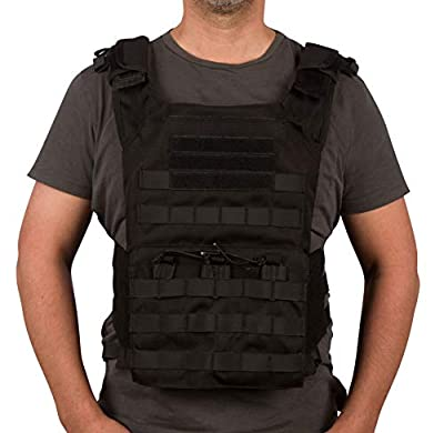 Modern Warrior Modular Tactical Vest - Adjustable (Black)
