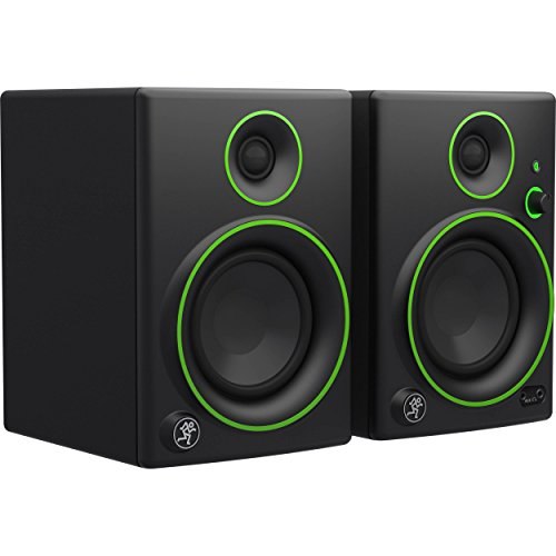 Mackie Studio Monitor, Black w/green trim, 4-inch (CR4BT)