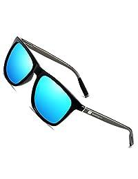 Wayfarer Sunglasses for Men Women Polarized Vintage Sun Glasses UV400 8286