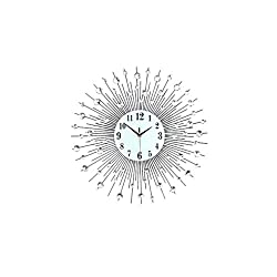 Vosarea Crystal Wall Clock Decorative Round Hanging Clock Silent for Living Room Nursery Home Bedroom