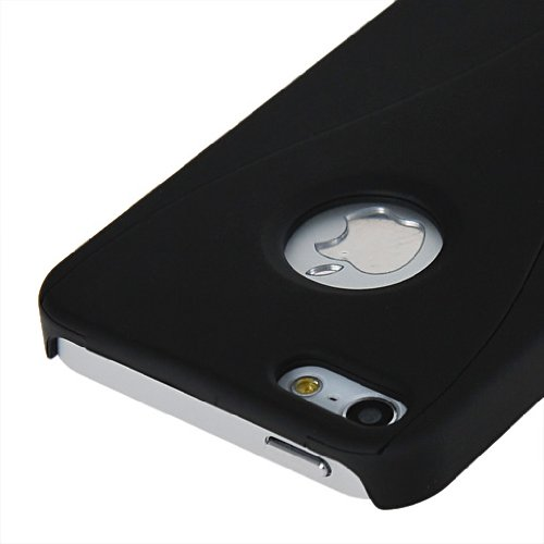 MOONCASE Hard Shell Cover Housse Coque Etui Case Pour Apple iPhone 5 5G Noir