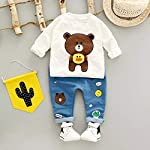 Googo Gaaga Funky White Teddy Printed Full Sleeves T-Shirt and Pant Set