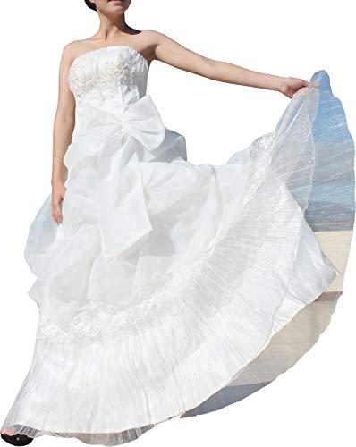 Full Funk Thai Wedding One Piece Long Dress - White Traditional Sleeveless (Silk Dress Thai Wedding)