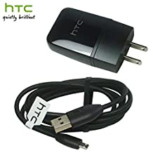 Rapid 1.5A Charger KIT for HTC One (M8) max SmartPhone with Micro USB 2.0 Cable will power up in a blink! (BLACK / 12W / 1.5A)