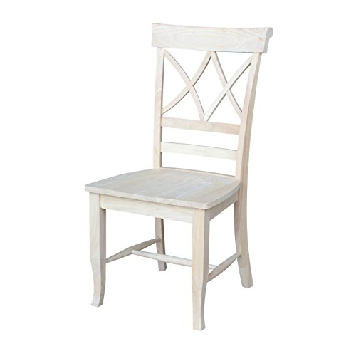 International Concepts C-43P Lacy Dining Chair Unfinished