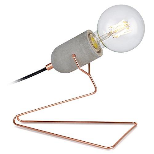 Versanora VN-L00023 Pettit Finish Desk Lamp, Concrete/Rose Gold