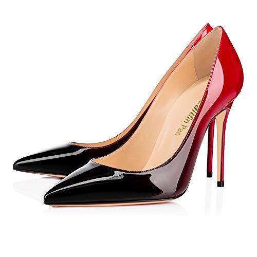 Pan Pompes Rouge par 10cm Talon Aiguille Chaussures 10cm Noir à Hauts Défaut à Caitlin Femmes Rouge Talons Semelle Bout pointuSlingback 4I4dBa