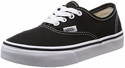 357866f7d0bf72 Vans Kid s Shoes Authentic Black True White Fashion Sneakers Boys Girls