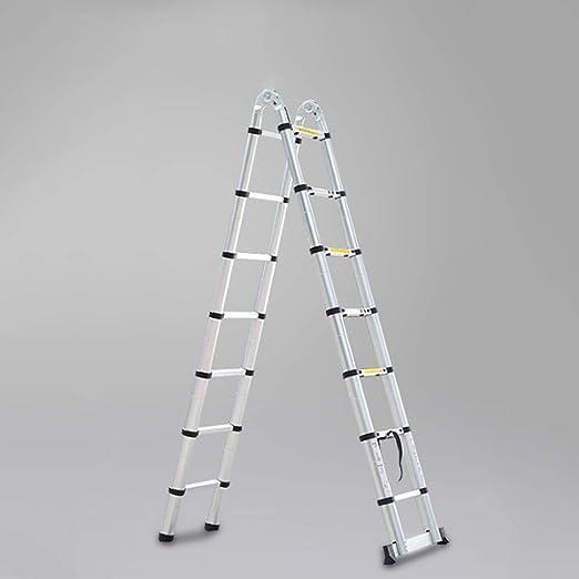 MC-BLL-ladder Bambú portátil de elevación Escalera telescópica multifunción ingeniería pabellón Plegable escaleras de aleación de Aluminio Grueso Escalera en Espiga casa: Amazon.es: Hogar
