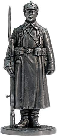 The Red Army Soldier in The Winter Marching Uniform Tin Toy Soldiers Metal Sculpture Miniature Figure Collection 54mm (Scale 1/32) (WWII-28)