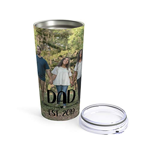 Custom Fathers Day Travel Mug - Personalized Tumbler or Mug for Coffee Beer Warm Cold Drinks Men Women Dad Gifts Celebrate Dads -