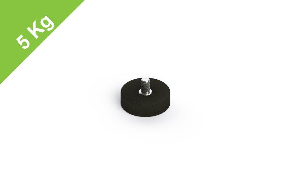 Gewinde M4 Haushalt befestigen schrauben H=6mm Gummiertes Magnetsystem mit Au/äengewinde D=22mm