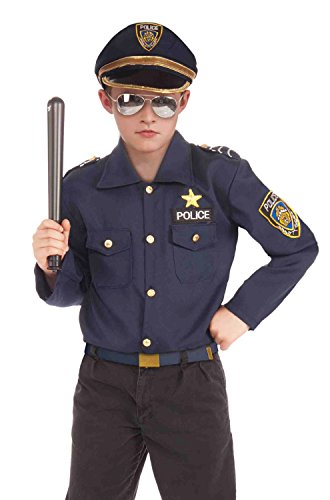 60 Quick And Easy Halloween Costumes (Forum Novelties Instant Police Child Costume Kit, Large)