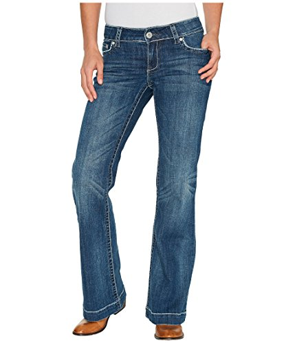 (Stetson Women's Ladies Jean 214 Trouser Fit, Blue, 10 L)