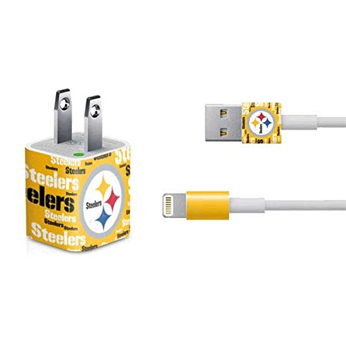 Amazon.com  Skinit NFL Pittsburgh Steelers iPhone Charger (5W USB ... 8c77bd023