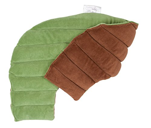 DreamTime Spa Comforts Microwaveable Shoulder Wrap with Aromatherapy, Neck Shoulder Relaxer, Hot or Cold Neck Wrap Lavender and Peppermint Herbal Stress Relief, Green/Brown (Neck Microwaveable)