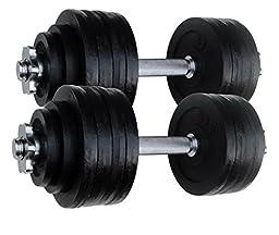 2 X 52.5 LBS Adjustable Cast Iron Dumbbells Set. Total 105 Lbs