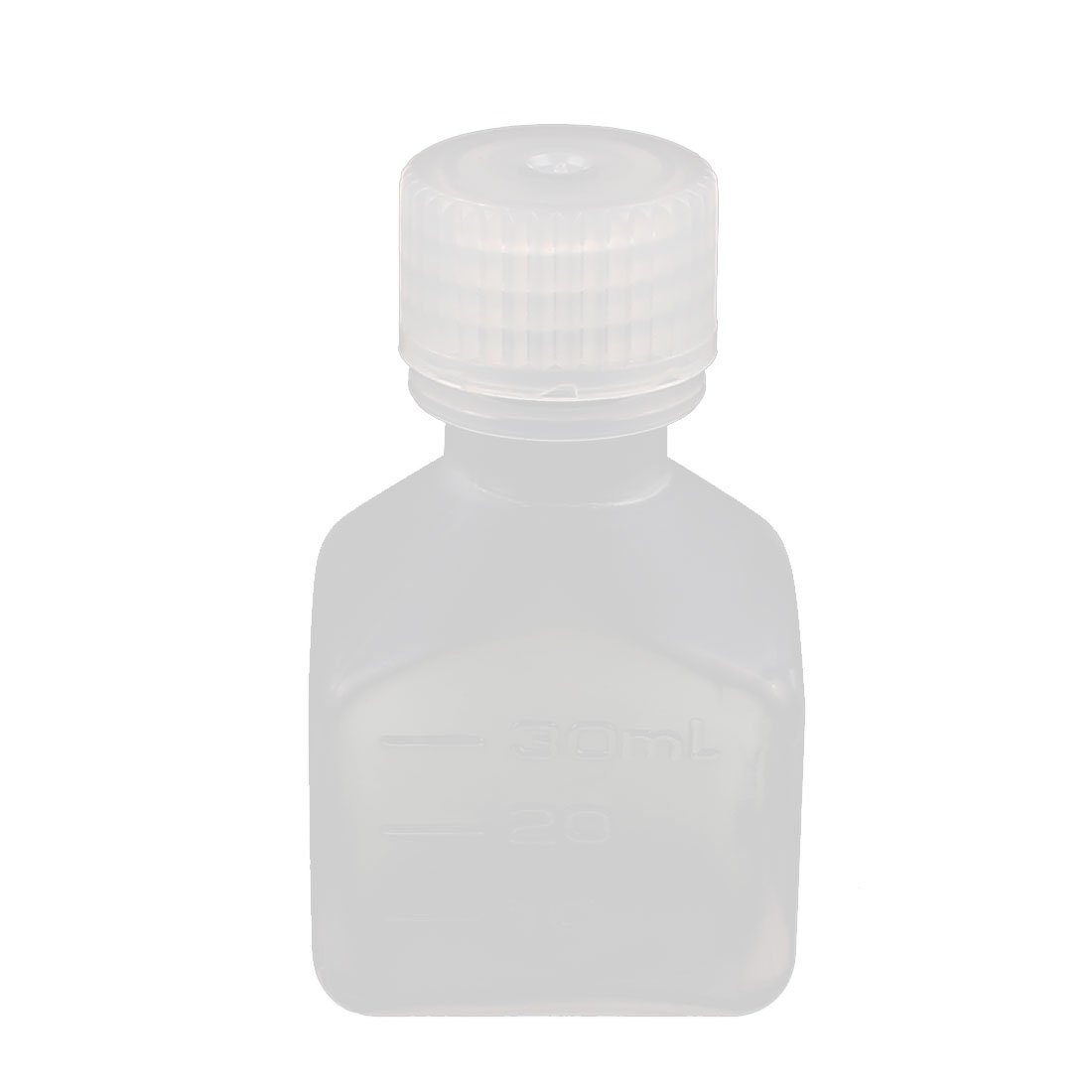 uxcell30ml PP Square Wide Mouth Seal Reagent Bottle Chemical Sample Bottle a16082700ux0337