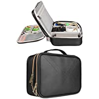 BUBM Portable Multi-functional Waterproof Travel Cable Organizer Storage Bag, Electronic Accessories Travel Organizer Bag (Large Black)