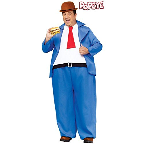 Popeye Wimpy Costume for Men (Wimpy Adult Costume)
