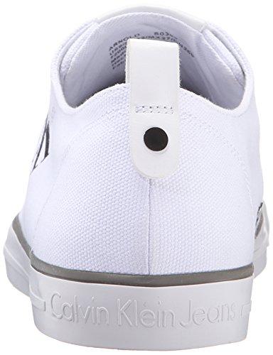 Blanco Wht Zapatillas Jeans Arnold para Calvin Canvas Hombre Klein 000 S1qBxP