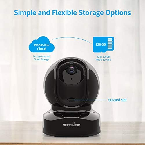 Wansview Wireless Security Camera, IP Camera 1080P HD, WiFi Home Indoor Camera for Baby/Pet/Nanny, Motion Detection, 2 Way Audio Night Vision, Works with Alexa, with TF Card Slot and Cloud 41CvMpiqOqL