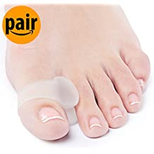 NatraCure Advanced Gel Toe Separator & Spreader/Spacer (w/ Toe Loop) - Size: L/XL - (1030-M CAT 2PK) - 1 Pair - (For Pain Relief from Calluses, Blisters, Bunions, and Hammer Toes)