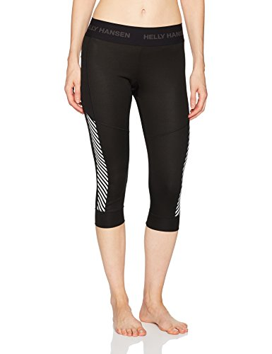 Helly Hansen Women's LIFA 3/4 Boot Top Baselayer Pants, Black, Small (Long Hansen Helly Underwear)