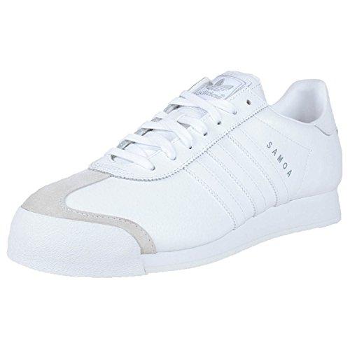 adidas Originals Men's Samoa Retro Sneaker,White/Silver,10 D