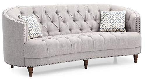 (Glory Furniture Charleston G850-S Sofa, Light Gray. Living Room Furniture 36