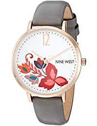 Women's NW/2208RGGY Rose Gold-Tone and Grey Strap Watch