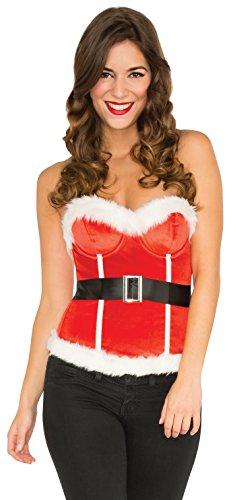 Rubie's Costume Co Velvet Santa's Corset Costume, Small, Small