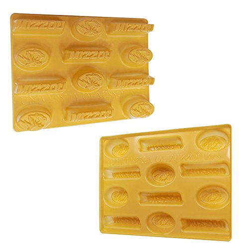 University of Missouri Ice Cube Tray - Set of 2 Trays - Makes 24 Team Ice Cubes - Mizzou Tigers Tailgate - Columbia College SEC NCAA Gold Food Tray Dessert Mold Missouri Tigers Football Mizzou Trays (Tigers Set Tailgate)