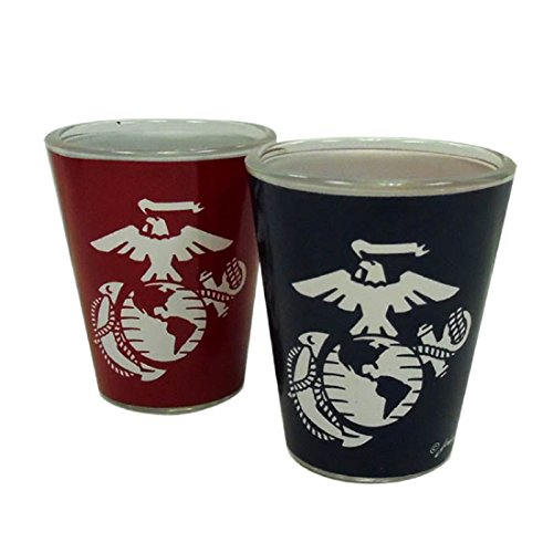 United States Marines Two Tone Shot Glass