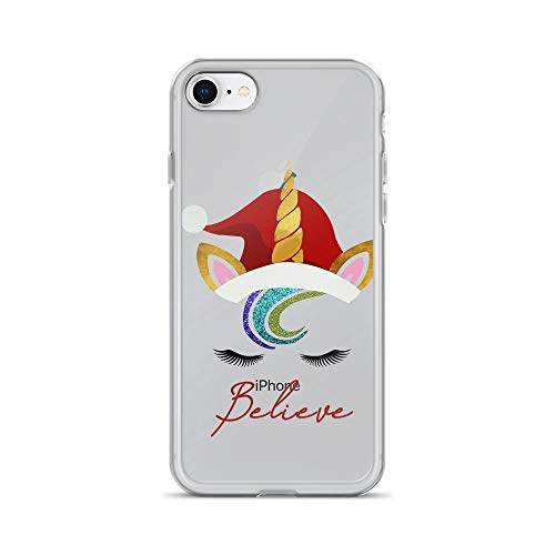 iPhone 7/8 Pure Clear Case Cases Cover Christmas, Unicorn Believe Christmas]()