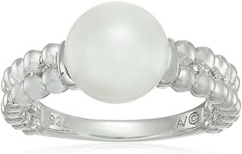 Sterling Silver Freshwater Pearl Beaded Ring, Size 7
